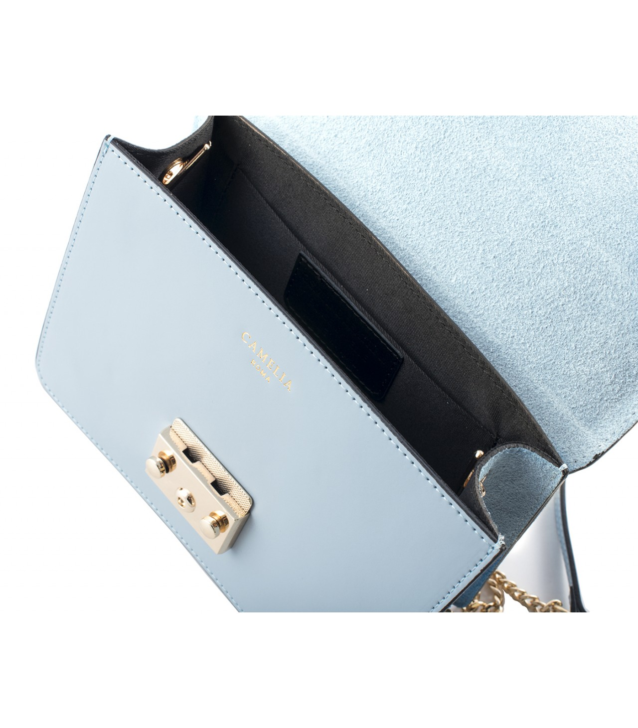 LEATHER AND SUEDE CROSSBODY BAG TRACOLLA_0031_CL COLOR: LIGHT BLUE