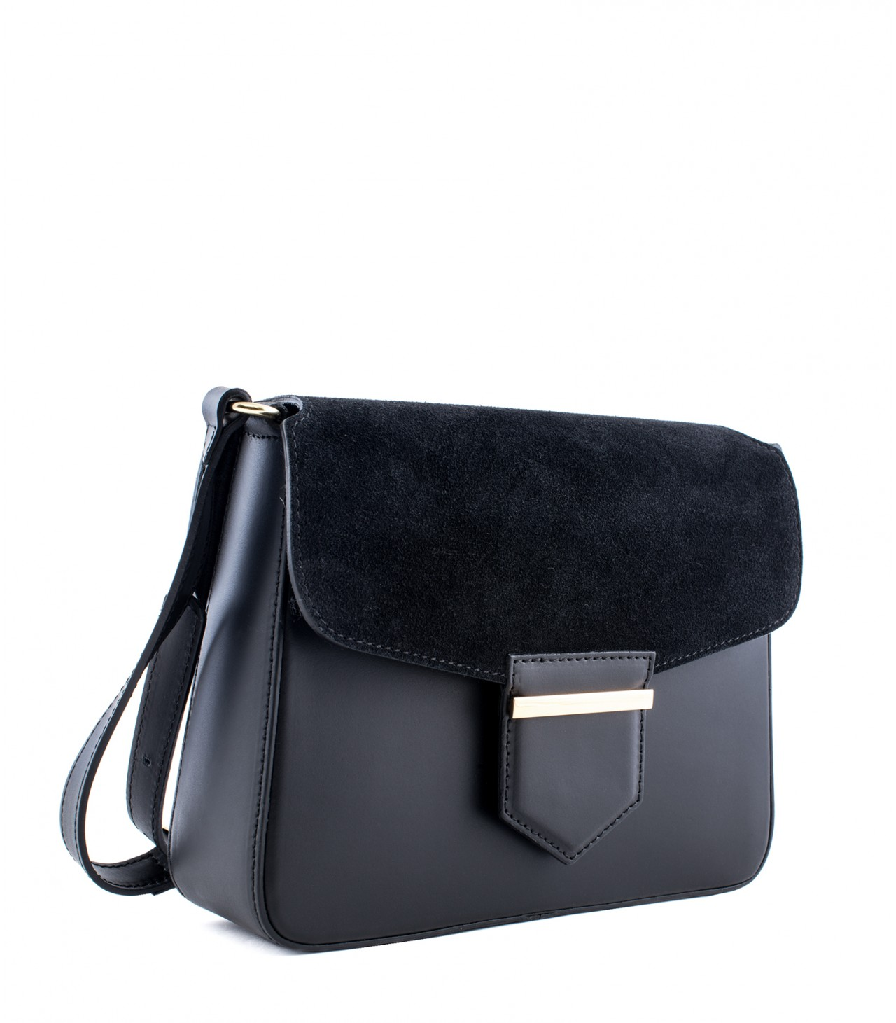 LEATHER AND SUEDE CROSSBODY BAG TRACOLLA_0033_NE COLOR: BLACK