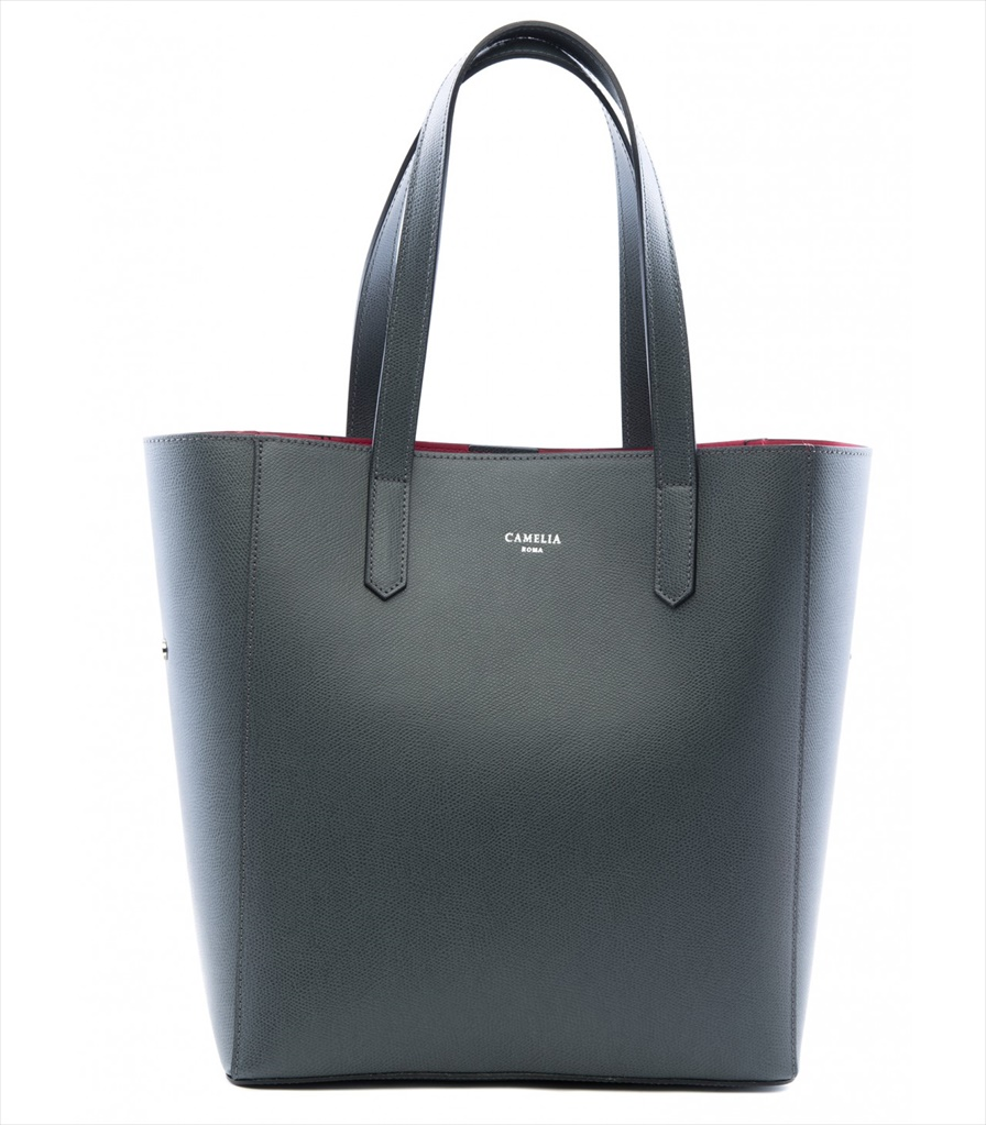 GRAINED LEATHER TOTE BAG SHOPPING_0012_GR COLOR: GREY