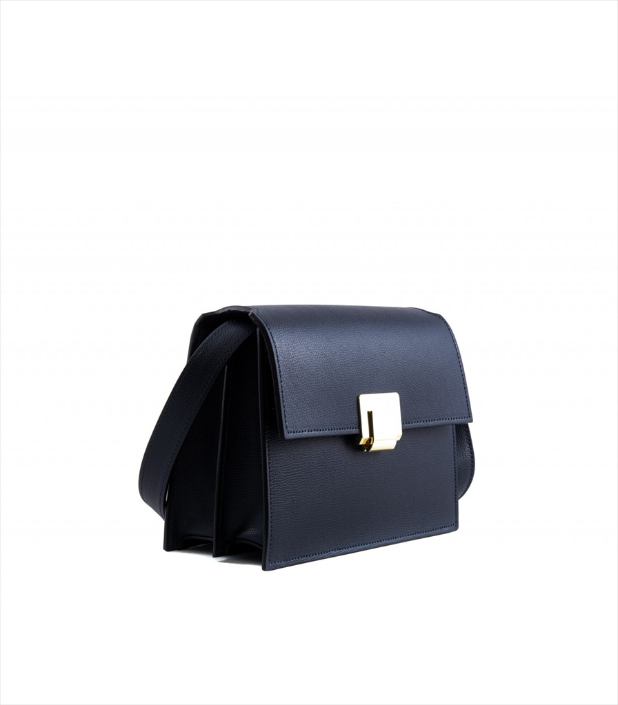 GRAINED LEATHER SHOULDER BAG TRACOLLA_0045_BL COLOR: BLUE