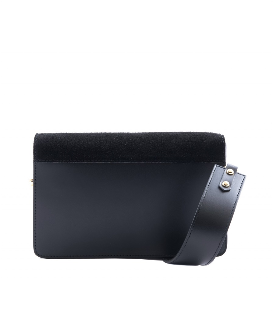 LEATHER AND SUEDE CROSSBODY BAG TRACOLLA_0038_NE COLOR: BLACK