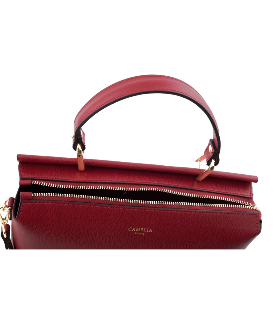 GRAINED LEATHER HANDBAG BORSAMANO_0034_RO COLOR: RED
