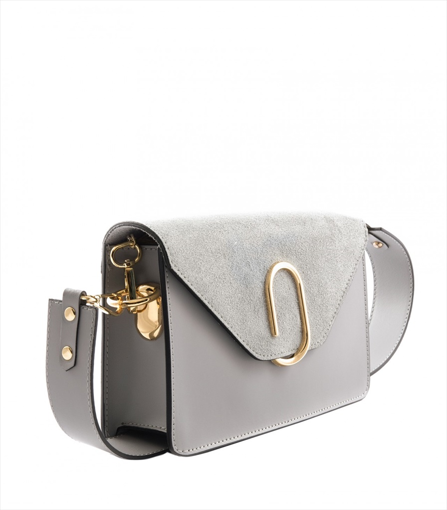 LEATHER AND SUEDE CROSSBODY BAG TRACOLLA_0038_GR COLOR: GREY