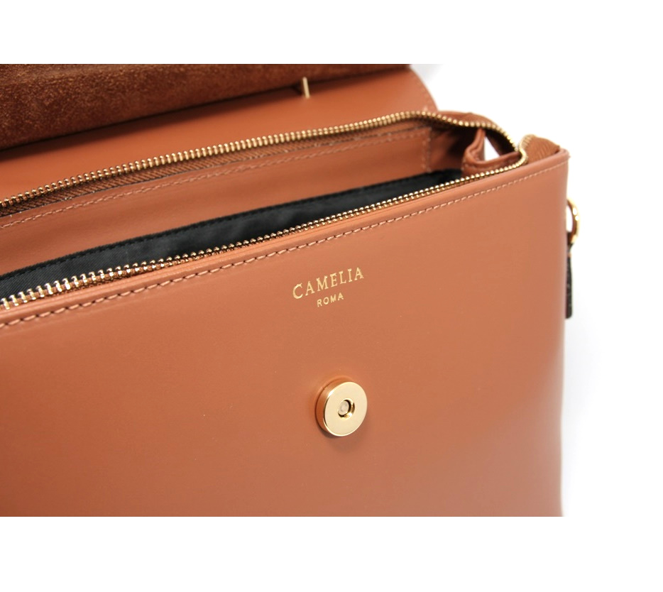 LEATHER AND SUEDE HANDBAG BORSAMANO_0031_CU COLOR: LIGHT BROWN