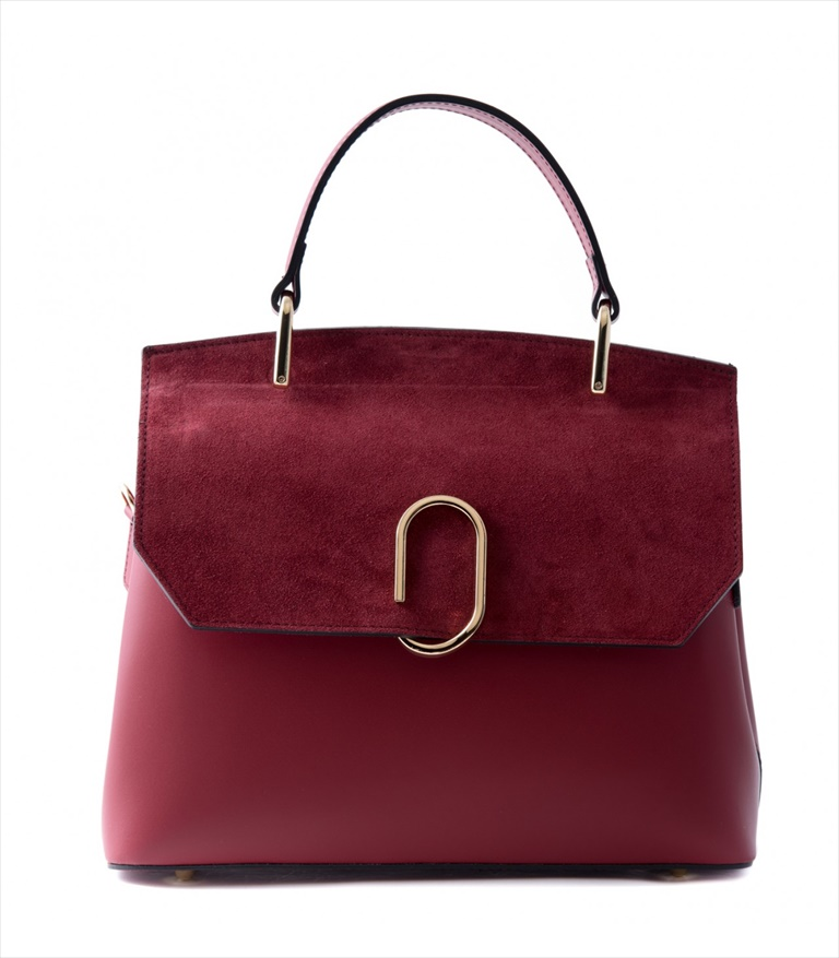 LEATHER AND SUEDE HANDBAG BORSAMANO_0031_RO COLOR: RED