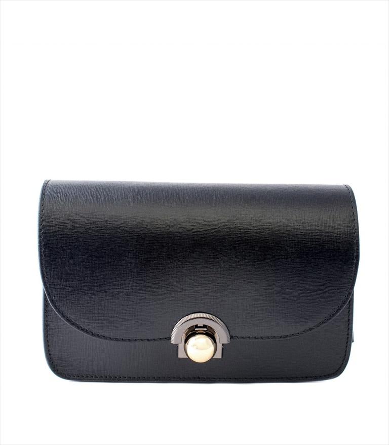 SAFFIANO LEATHER SHOULDER BAG TRACOLLA_0036_NE COLOR: BLACK