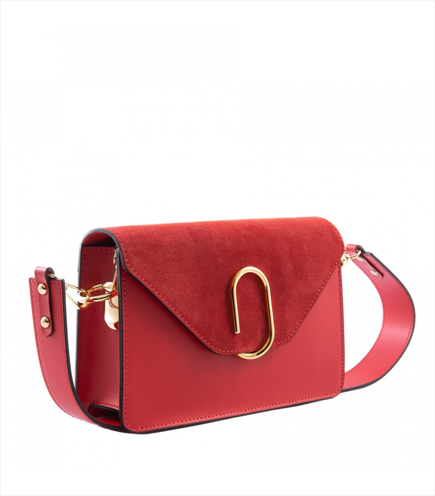 LEATHER AND SUEDE CROSSBODY BAG TRACOLLA_0038_RO COLOR: RED