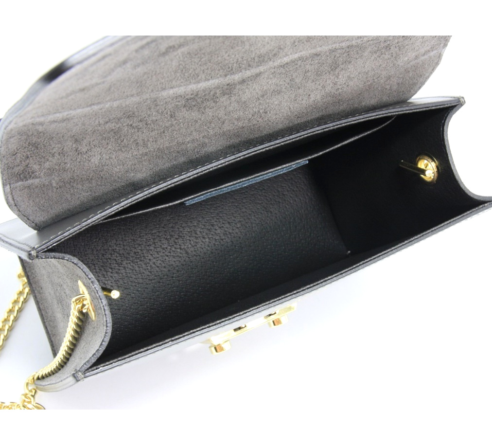 LEATHER AND SUEDE CROSSBODY BAG TRACOLLA_0031_GR COLOR: GREY