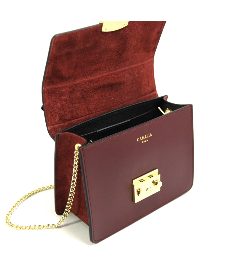 LEATHER AND SUEDE CROSSBODY BAG TRACOLLA_0031_BO COLOR: RED WINE
