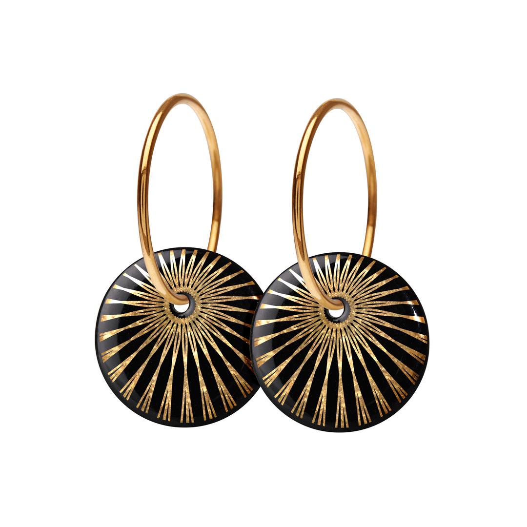 SPLASH hoop【BLACK / GOLD】