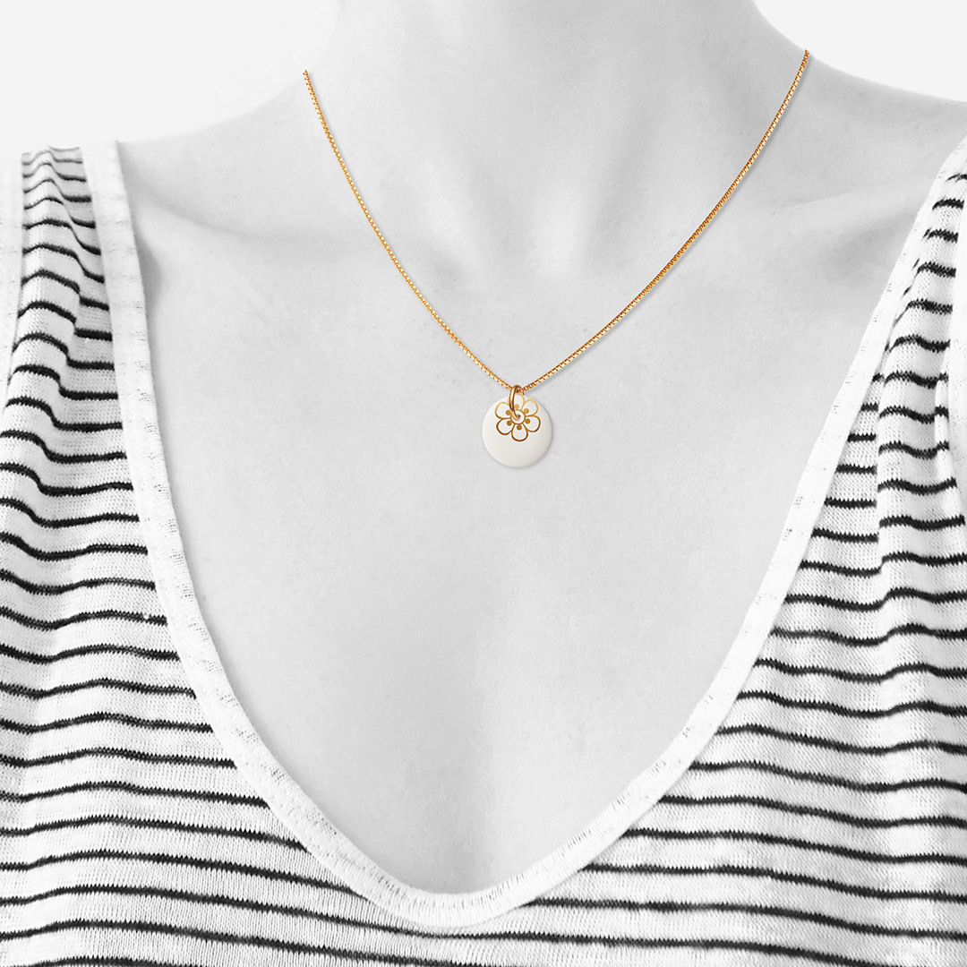 FLORA necklace 45cm【GOLD】
