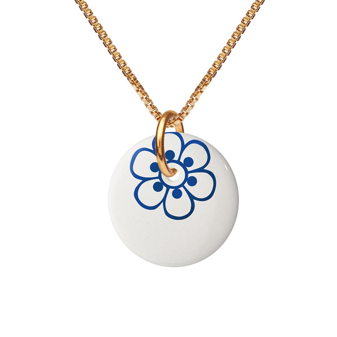 FLORA necklace 45cm【ULTRAMARINE】