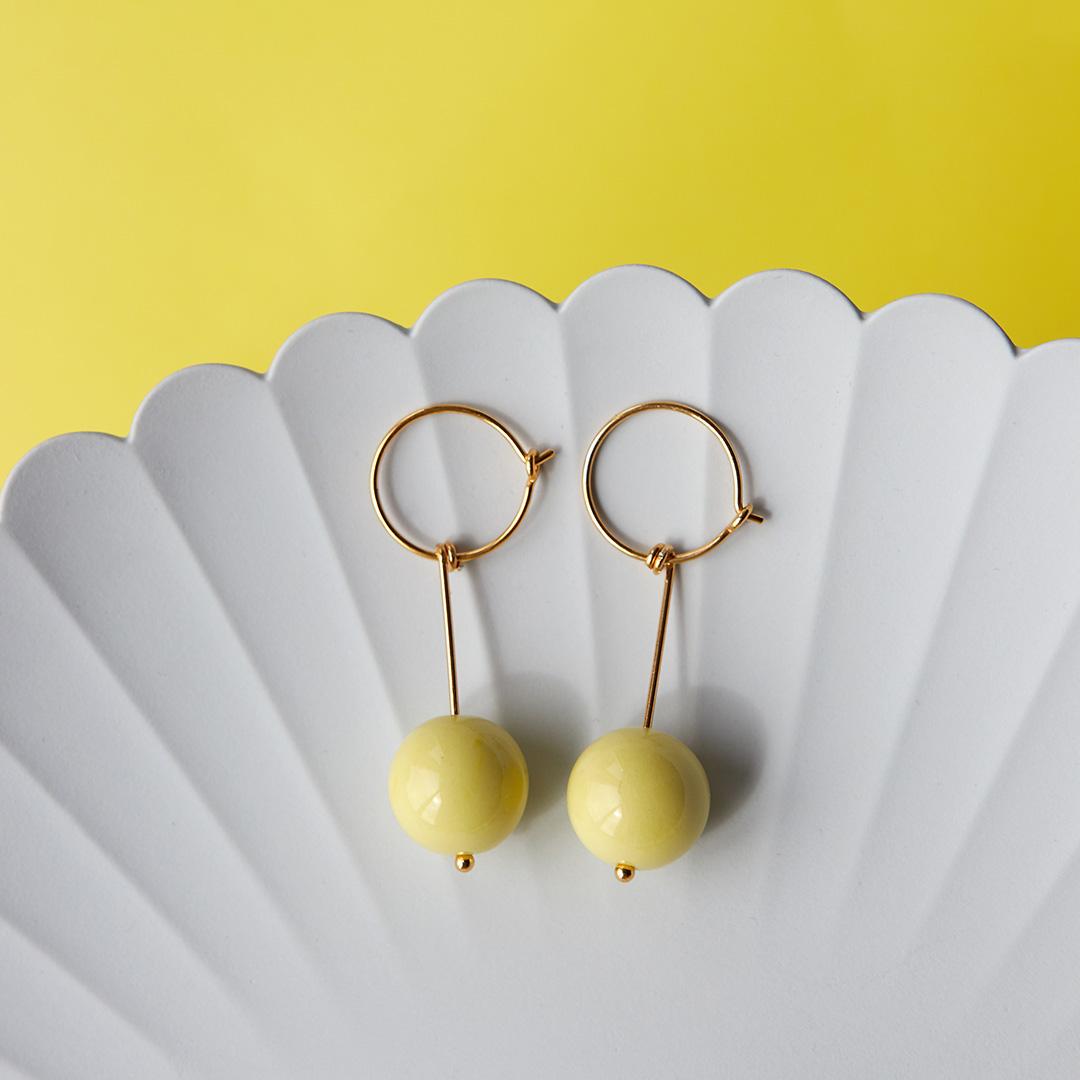 GLOW hoop long【LEMON】