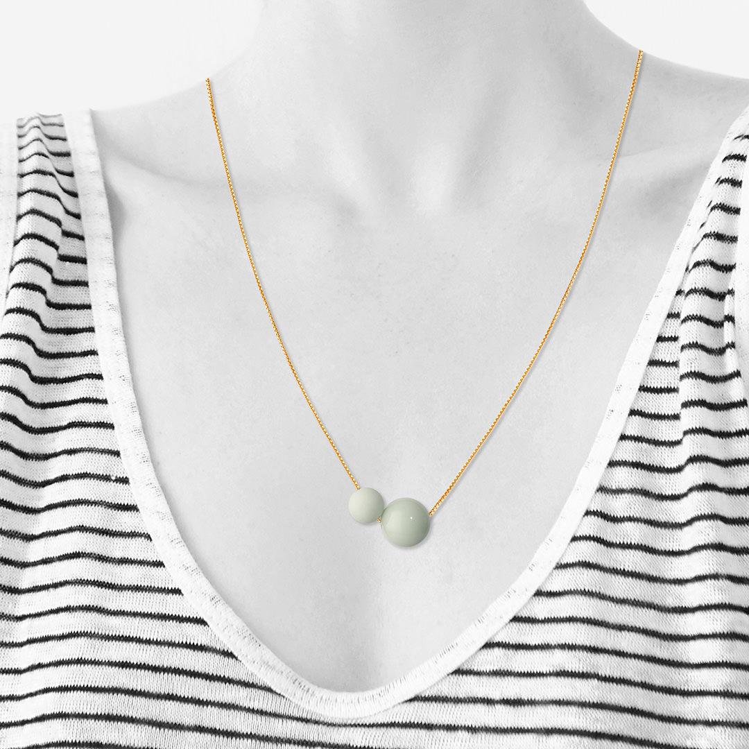 GLOW necklace 60cm【SPEARMINT】