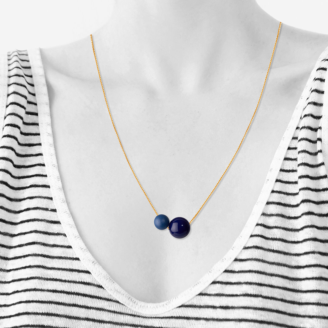 GLOW necklace 60cm【ULTRAMARINE】