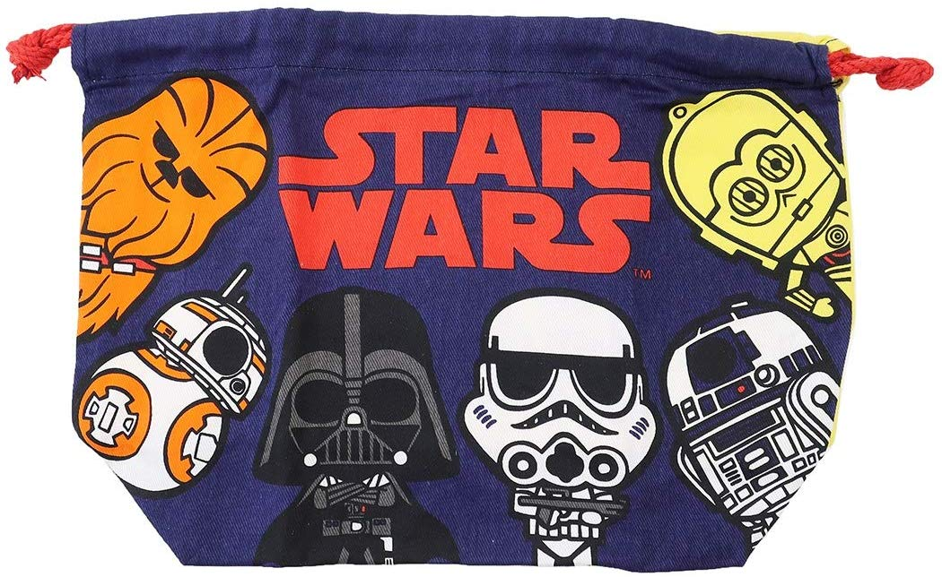 【入荷済】「 STAR WARS スター・ウォーズ 」 ランチ巾着 マチ付き きんちゃく袋/ポップ