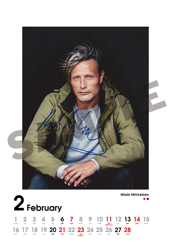 【WINTER SALE・20% OFF & 送料半額】SCREEN collections カレンダー 2021 マッツ・ミケルセン