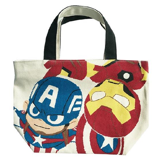 【入荷済】「 MARVEL 」チャック付マチ付バッグ/グリヒル/キャプテン・アメリカ&アイアンマン