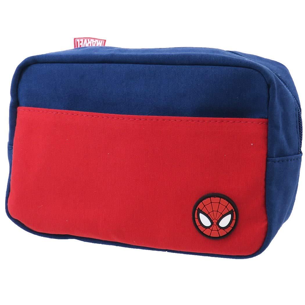 【入荷済】「 スパイダーマン」化粧ポーチ スウェット スクエアポーチ アイコン MARVEL