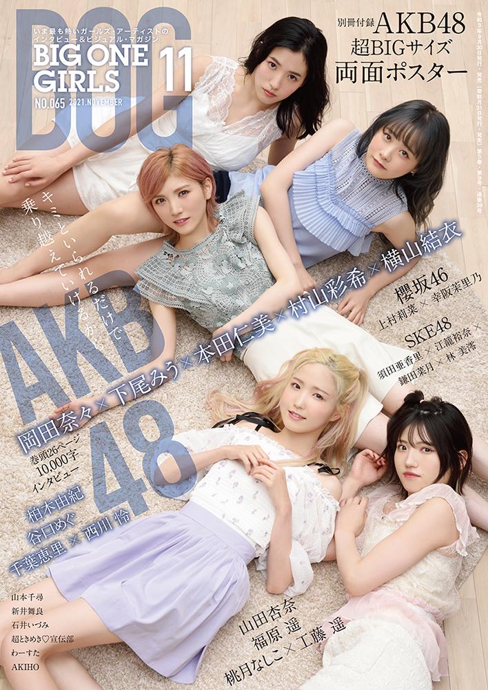 BIG ONE GIRLS 2021年11月号 NO.065【表紙・付録:AKB48 岡田奈々×下尾みう×本田仁美×村山彩希×横山結衣】