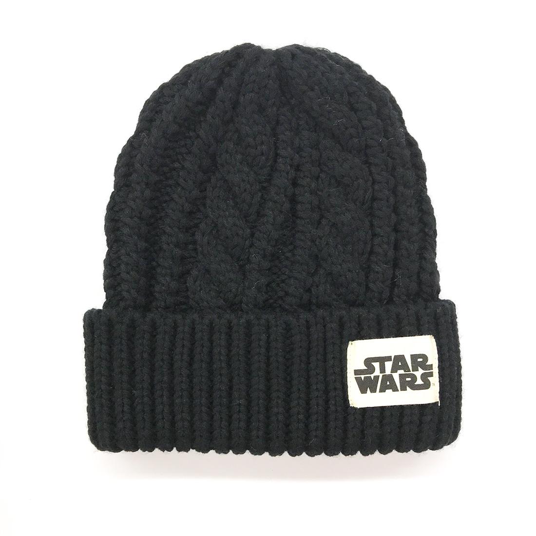 【入荷済】「STAR WARS スター・ウォーズ」 ケーブルニットキャップ ロゴ(ブラック)