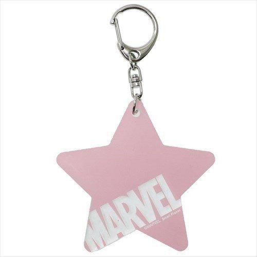 【入荷済】アクリルキーホルダー スター ピンク ロゴ MARVEL マーベル