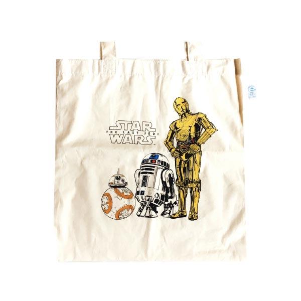 【入荷済】「 スター・ウォーズ 」エコマーク付コットンバッグ EP8 R2-D2 & C-3PO & BB-8