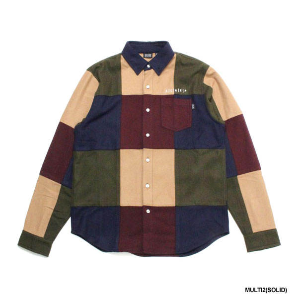 PATCHWORK SHIRT -2.COLOR-