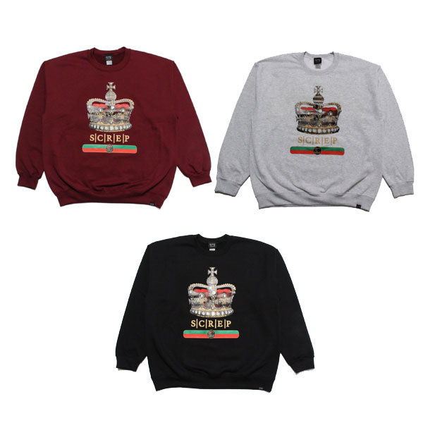 CROWN CREW SWEAT -3.COLOR-