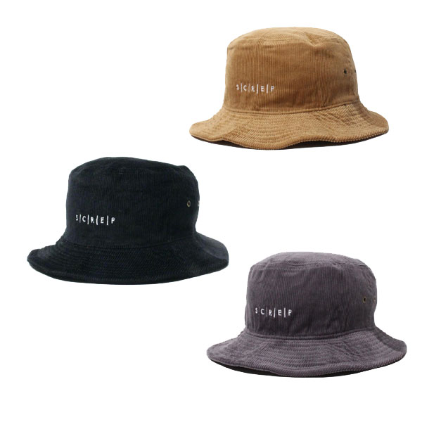 S C R E P CORDUROY BUCKET HAT -3.COLOR-