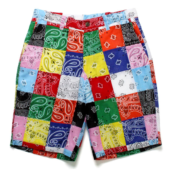 BANDANA PATCHWORK SHORTS -MULTI-