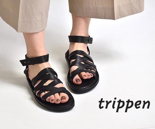 "trippen トリッペン ""NEPAL/ネパール"" アンクルストラップ レザーサンダル レディース【送料無料】"