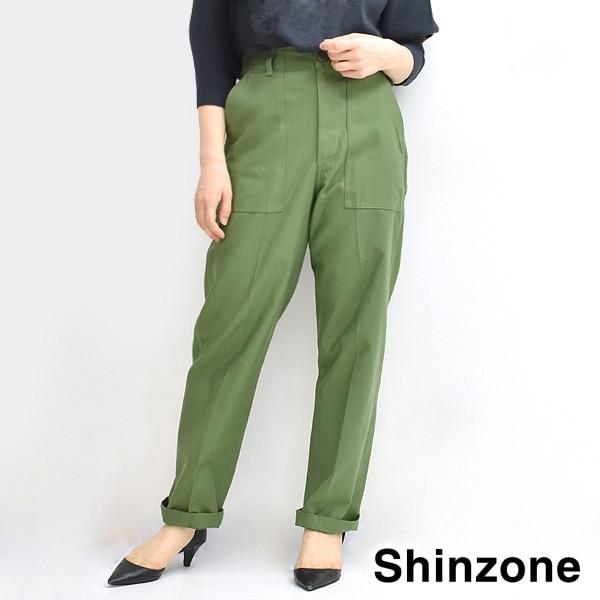 THE SHINZONE シンゾーン BAKER PANTS ベイカーパンツ カーキ 15AMSPA18 レディース【送料無料】