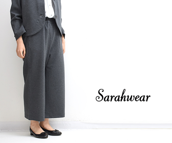 Sarah Wear サラウェア ポンチワイドパンツ C91088 レディース【送料無料】