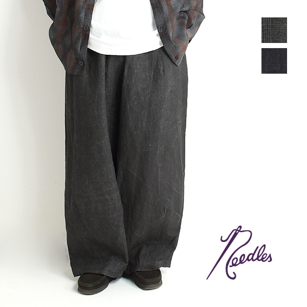 "【10%OFF】【21SS】Needles ニードルズ ""H.D.P. PANT"" ヒザデルパンツ - LINEN CLOTH / INK DYE - IN156【送料無料】【セール】【SALE】【返品交換不可】"