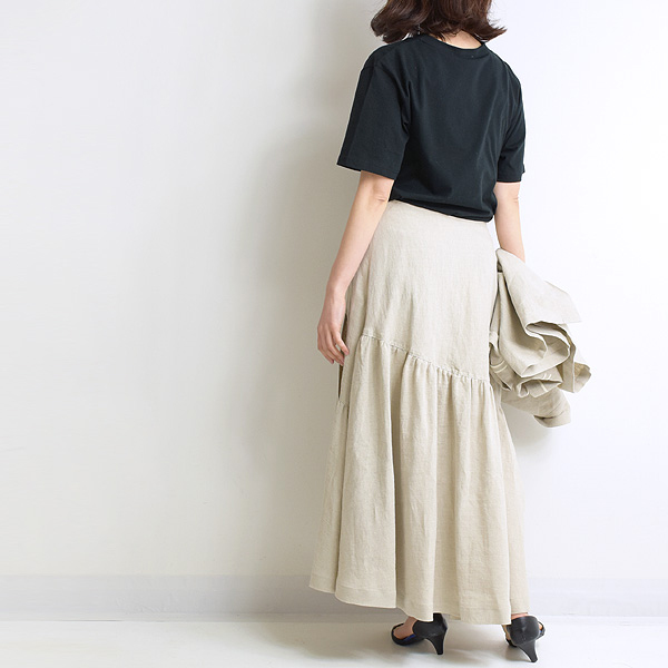 MANON マノン リネンギャザースカート MNN-SK-038 レディース【送料無料】