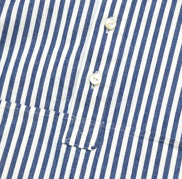 【15%OFF】meEals ストライプツールポケットシャツ ME1205 レディース【返品・交換不可】