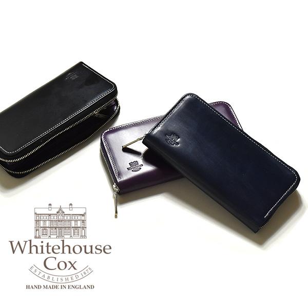 Whitehouse Cox 18AW ホリデーライン ロングジップウォレット S2622【送料無料】