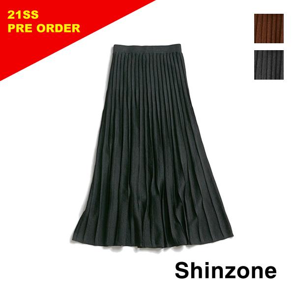 【21SS予約】THE SHINZONE シンゾーン PLEATS KNIT SKIRT プリーツニットスカート 21SMSNI02 レディース【送料無料】
