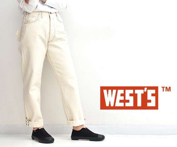 """WESTOVERALLS ウエストオーバーオールズ """"105B"""" ストレートデニムパンツ 20SSPT105"""