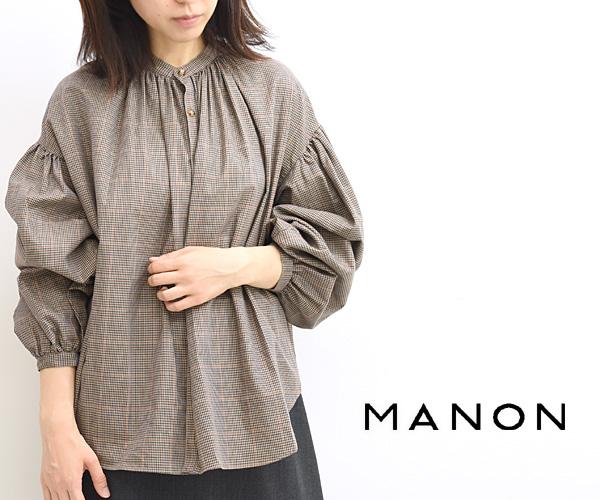 MANON マノン チェック&ストライプアミカルシャツ MNN-SH-140 レディース【送料無料】