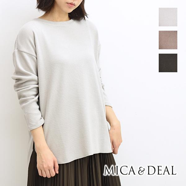 MICA&DEAL マイカ&ディール リブバックスリットプルオーバーカットソー 0120409210 レディース