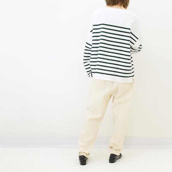 ORCIVAL オーシバル ラッセルボーダーワイドショートバスクシャツ 6819 レディース【送料無料】【クリックポスト可】