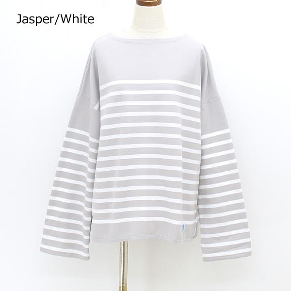 【21FW】ORCIVAL オーシバル ラッセルボーダーワイドショートバスクシャツ 6819 レディース【予約】【送料無料】【クリックポスト可】