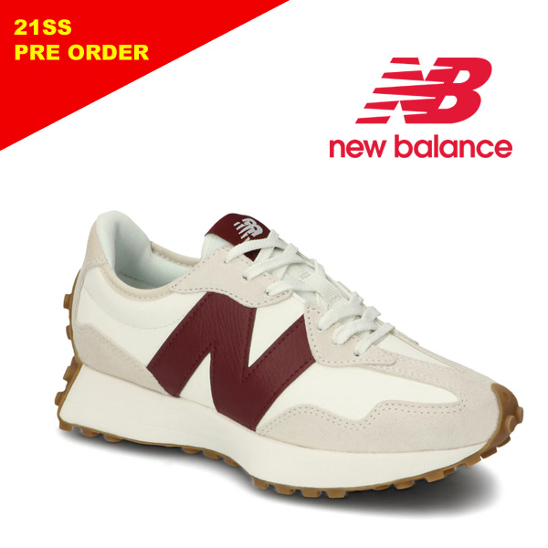 "【21SS】New Balance ニューバランス ""WS327 KA"" ホワイト/バーガンディ レディース スニーカー 【先行予約】"
