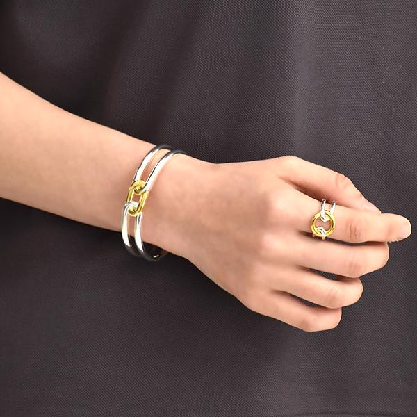 PHILIPPE AUDIBERT フィリップ オーディベール Rigid butler bracelet シルバー ゴールド カラー ブレスレット バングル BR2096 レディース【送料無料】