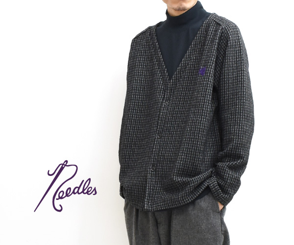 【20AW】Needles ニードルズ V Neck Cardigane -Gunclub Jq- ガンクラブチェック Vネックカーディガン HM252【送料無料】