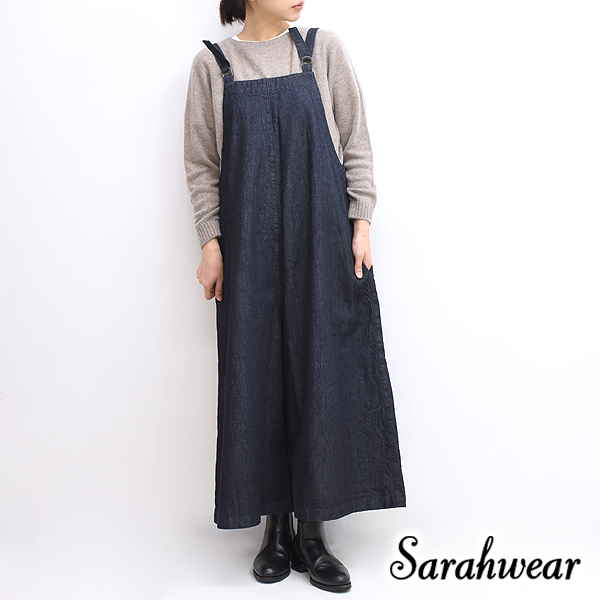 Sarah Wear サラウェア インディゴデニムサロペット C16034 レディース【送料無料】