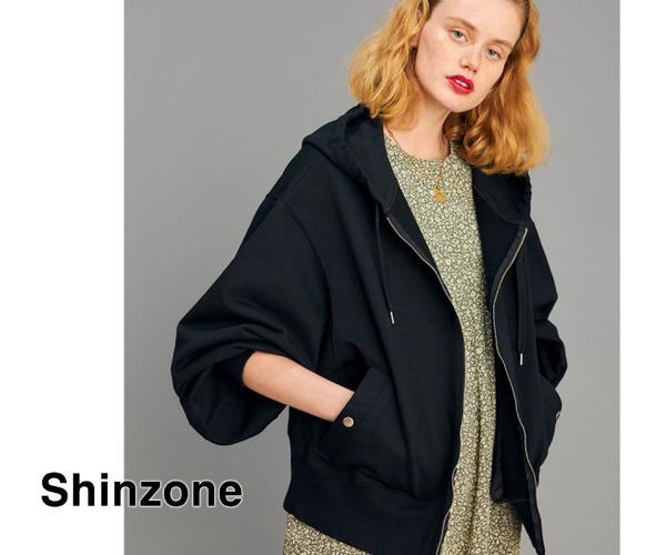 "【21SS】THE SHINZONE シンゾーン ""PLENTY HOODIE"" プレンティフーディー ボリュームスリーブZIPアップパーカー 21SMSCU19 【先行予約】【送料無料】"