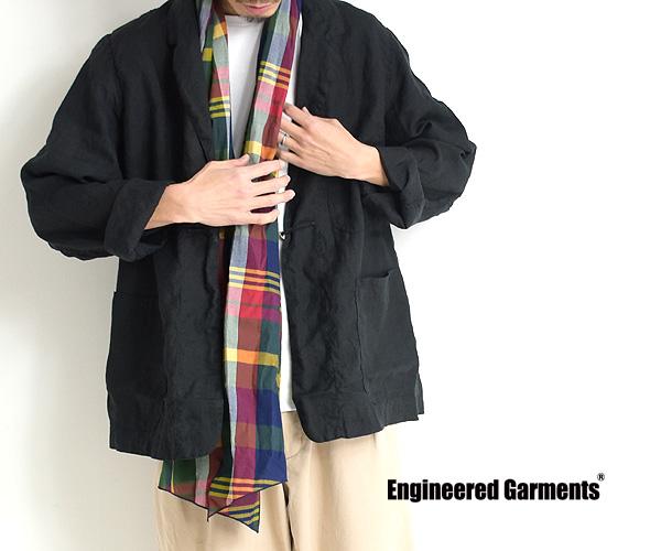 """【21SS】ENGINEERED GARMENTS エンジニアードガーメンツ """"Long Scarf"""" -Big Madras Plaid- マドラスチェック ロングスカーフ IK219【送料無料】【クリックポスト可】"""